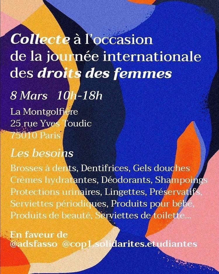 Journée des droits des femmes 2021 : de nombreux lieux de collectes de produits d'hygiène pour les femmes en grande précarité !